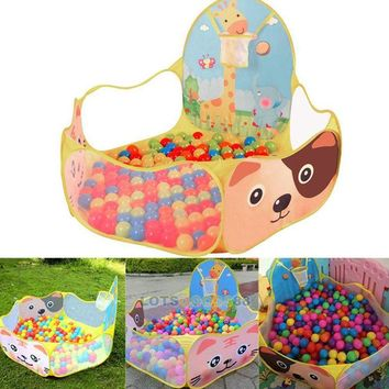 Portable Ocean Ball Pit Pool Outdoor Indoor Kids Pet Game Play Children Toy Tent