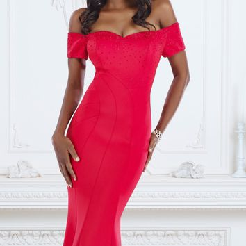 Off-The-Shoulder Gown by Janique