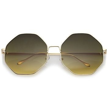 Oversize Women's Retro Hexagon Shape Sunglasses A654