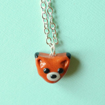 Fox Animal Charm Miniature Necklace