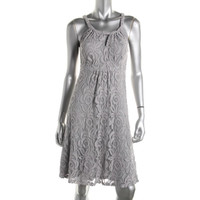 INC Womens Lace Halter Cocktail Dress