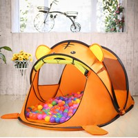 Lovely Portable Cartoon Animal Kids Toys Tent Children Kids Indoor Outdoor Playing House Folding Baby Toy Tent Child Gifts