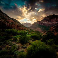 A Mountain Sunset - Southwestern Utah / Zion National Park Fine Art Landscape Photography 8x10 - Gallery Canvas Wrap