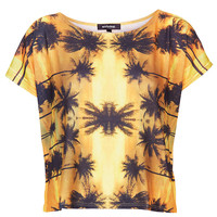 Palm Tree Tee By Workshop - Clothing Brands - Clothing - Topshop USA