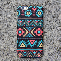 Navajo Aztec iPhone 6s Case Geometric Shapes iPhone 5S 5 iPhone 5C Case Turquoise Samsung Galaxy S6 edge S6 S5 S4 S3 Note 3 Case 028