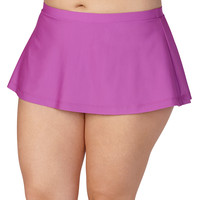 Plus Size - Raspberry Swim Skirt - Raspberry