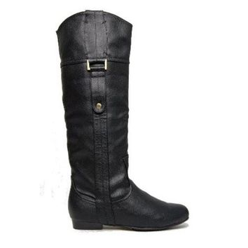 VONES2C Chelsea Crew Beverly- Black Knee-High Boots