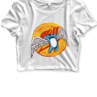 DCCKL83 Aye Sir Wings Of Fairy Tail Womens Crop T Shirt