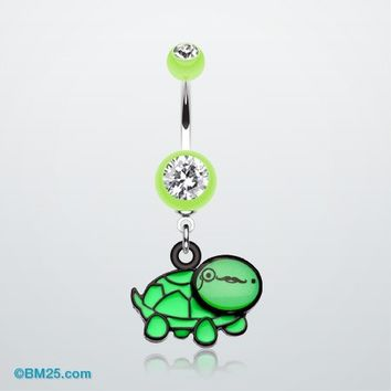 Sherlock Turtle Belly Button Ring