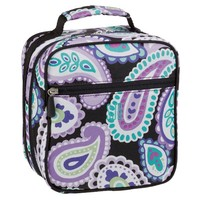 Gear-Up Black Paisley Classic Lunch Bag