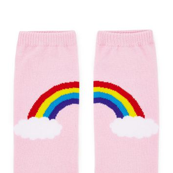 Rainbow Graphic Ankle Socks