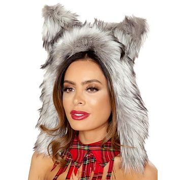 Sexy Faux Fur Big Bad Wolf Hood