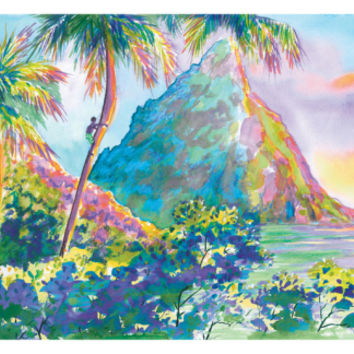 St. Lucia Rainbow Palette Art Print by Anne Ormsby at Art.com