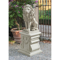 Park Avenue Collection Mansfield Manor Lion Sentinel Statue