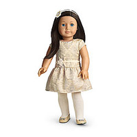 American Girl® Sale: Brocade Holiday Dress for Dolls + Charm