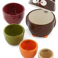 ModCloth Owls Owl Accounted For Measuring Cup Set