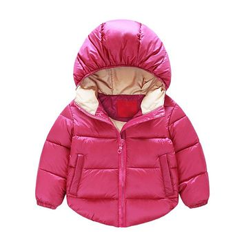 Winter Newborn Baby Snowsuit Cotton Kids Girls Boys Warm Coats Jackets Overall Clothes