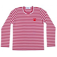 Play Striped T-Shirt (Red/White) | T-shirts | Play | Comme Des Garçons