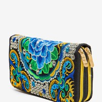 Minta Embroidered Wallet