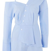 Stripe Poplin Playsuit | Topshop