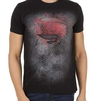 Superman Super Steeling Black Half Sleeve Men