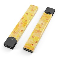 Skin Decal Kit for the Pax JUUL - Cute Watercolor Flowers over Yellow