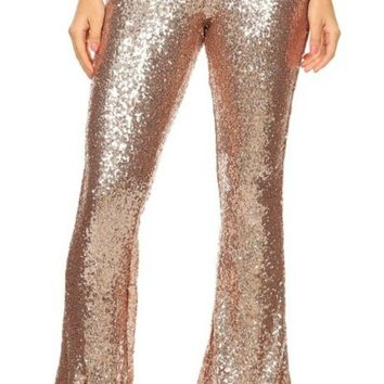 Shelia Sequin Flare Pants