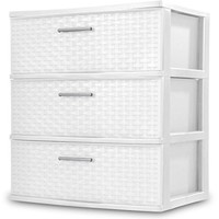 Sterilite 3-Drawer Wide Weave Tower, White (1) (1) - Walmart.com