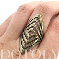 Geometric Spoon Ring - Available in sizes 5 to 7 | dotoly - Jewelry on ArtFire