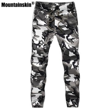 US Military Camo Camoflague winter Mens Sweatpants Athletic Joggers Gym Slim Fit