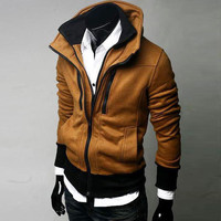 Winter Hot Sale Hoodies Men Zippers Casual Fashion Jacket [6528674499]