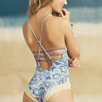 Maaji Swimwear 'Blue Box' Strappy One Piece | The Orchid Boutique