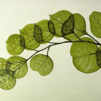 Leaf Wall Decor Acrylic Painting Partial High Gloss