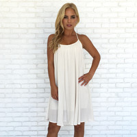 Just In Time Crochet Back Dress