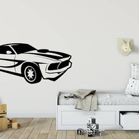Muscle Car Decal, Race Car Sticker, Cool Boy Room Decal, Sports Car Decor, Room Wall Sticker, Room Decor, Man Cave Decor, Cars Sticker nm002