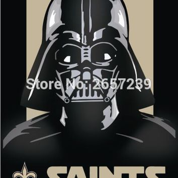 New Orleans Saints Empire Star Wars Flag 3x5FT NFL banner 100D 150X90CM Polyester brass grommets custom66, Free Shipping