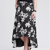 Floral High/Low Skirt | Banana Republic