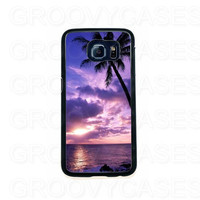 Samsung Galaxy S6 EDGE Case Rubber Beach Sunset