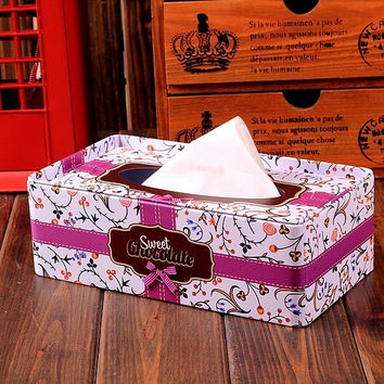 Box Iron Pastoral Style Home Tissue Box [6034244481]