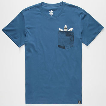 Adidas Shark Mens Pocket Tee Navy  In Sizes