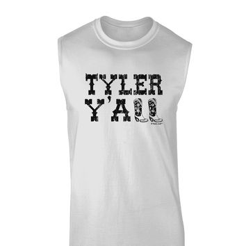 TooLoud Tyler Y'all - Southwestern Style Muscle Shirt