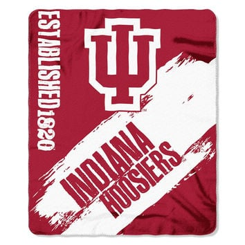 Indiana Hoosiers NCAA Light Weight Fleece Blanket (Painted Series) (50inx60in)