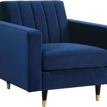 Lola Navy Velvet Chair