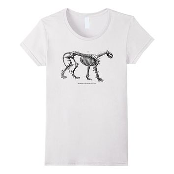 Vintage Art Skeleton of a Lion Tee T-shirt