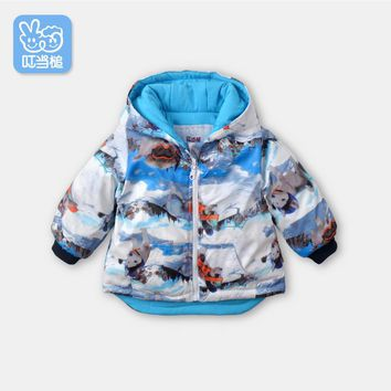 Dinstry children's clothing men and women baby windbreaker newborn baby clothes children's cotton thickening warm jacket