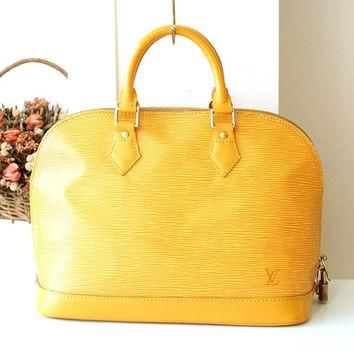 Louis Vuitton Bag Epi Alma Yellow Authentic Vintage Handbag