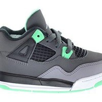 qiyif Toddler Air Jordan 4 Retro Green Glow