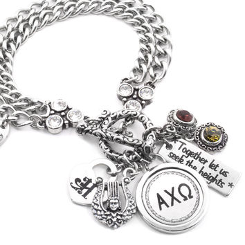 Personalized Sorority Charm Bracelet