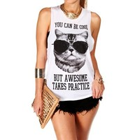 Pre-Order: Blk/Wht 'You Can Be Cool..' Tank Top