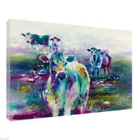 Home Deco Oil Painting HD Print Three Cows On Canvas Art Decor Wall Art